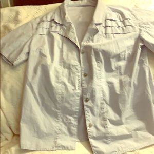 VINTAGE SHORT SLEEVE BUTTON DOWN